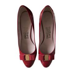 Wedges SALVATORE FERRAGAMO Red, burgundy