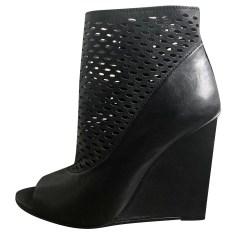 Sandales compensées ASH Noir