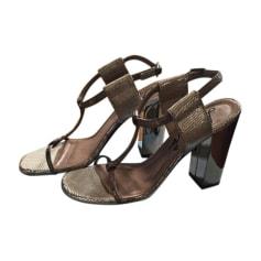 Heeled Sandals LANVIN Silver