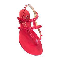 Flat Sandals BARBARA BUI Red, burgundy