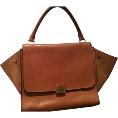 Leather Handbag CÉLINE Beige, camel