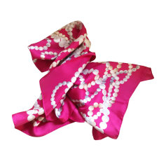 Silk Scarf TIFFANY & CO. Fuschia, gris, blanc