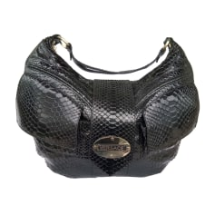 Leather Handbag VERSACE Black