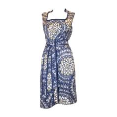 Midi-Kleid ESCADA Blau, marineblau, türkisblau