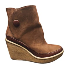 Wedge Ankle Boots STELLA MCCARTNEY Brown