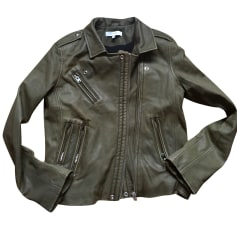 Leather Jacket IRO Khaki