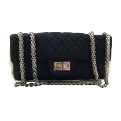 Non-Leather Shoulder Bag CHANEL 2.55 Black