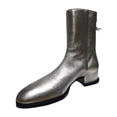 Ankle Boots GIVENCHY Silver