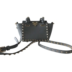 Leather Clutch VALENTINO Gray, charcoal