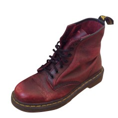 Bottines & low boots plates DR. MARTENS Rouge, bordeaux