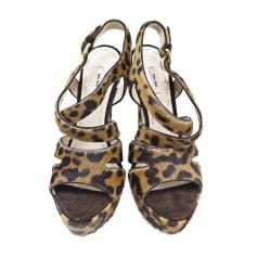 Heeled Sandals MIU MIU Brown
