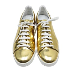 Sneakers LOUIS VUITTON Gold, Bronze, Kupfer