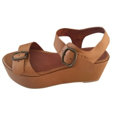 Wedge Sandals SESSUN Brown