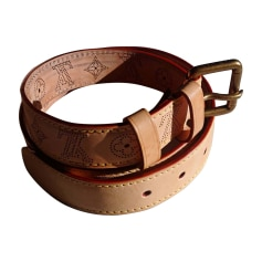 Wide Belt LOUIS VUITTON Beige, camel
