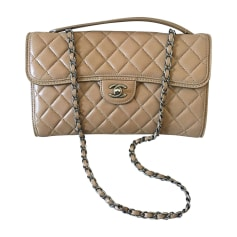 Leather Shoulder Bag CHANEL Beige, camel