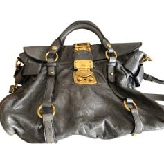 Leather Shoulder Bag MIU MIU Gray, charcoal