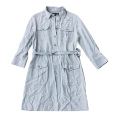 Robe mi-longue BANANA REPUBLIC Gris, anthracite