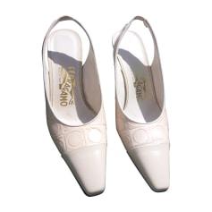 Pumps, Heels SALVATORE FERRAGAMO White, off-white, ecru