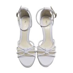 Sandales à talons FENDI Blanc, blanc cassé, écru