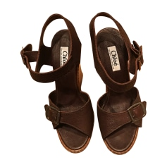 Wedge Sandals CHLOÉ Brown