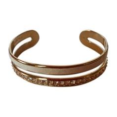 Bracelet NINA RICCI cuir beige et cristal