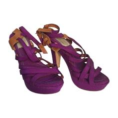 Heeled Sandals LANVIN Pink, fuchsia, light pink