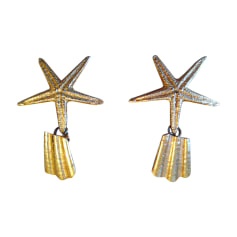 Earrings KENZO Golden, bronze, copper