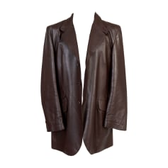 Leather Jacket PRADA Brown
