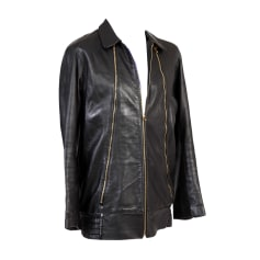 Leather Zipped Jacket BLAAK Black