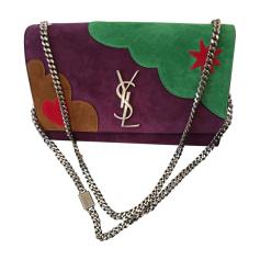 Leather Shoulder Bag SAINT LAURENT Purple, mauve, lavender