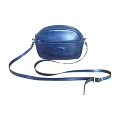 Schultertasche Leder CÉLINE Blau, marineblau, türkisblau