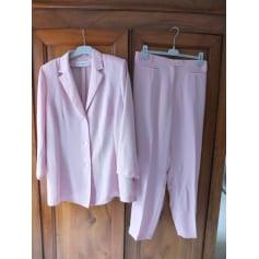 Tailleur pantalon CHRISTINE LAURE Rose, fuschia, vieux rose