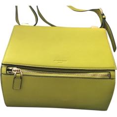 Leather Shoulder Bag GIVENCHY Pandora Box Yellow