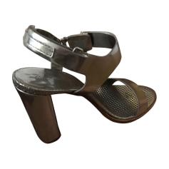 Heeled Sandals MIU MIU Silver