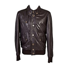 Leather Jacket DOLCE & GABBANA Brown