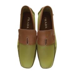 Mocassins PRADA Tan/Chartreuse