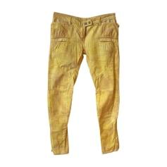Jeans slim BALMAIN Giallo