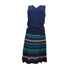 Tailleur jupe MISSONI Bleu, bleu marine, bleu turquoise