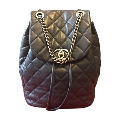 Backpack CHANEL Blue, navy, turquoise