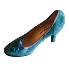 Escarpins babies REPETTO Bleu, bleu marine, bleu turquoise