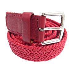 Belt LORO PIANA Red, burgundy