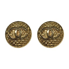 Earrings CHANEL Golden, bronze, copper