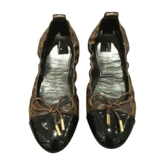 Ballerines LOUIS VUITTON Marron