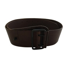 Wide Belt BURBERRY Brown