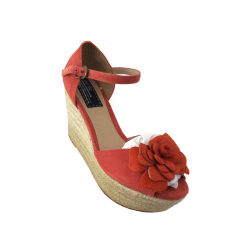 Sandales compensées BERTIE Rouge, bordeaux