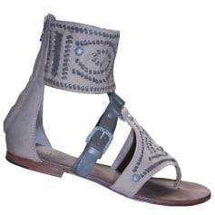 Flat Sandals ASH Beige, camel