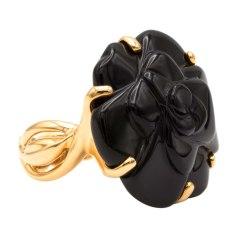 Ring CHANEL Camelia Gold, Bronze, Kupfer