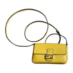 Leather Shoulder Bag FENDI Yellow