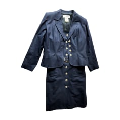 Tailleur robe YVES SAINT LAURENT Bleu, bleu marine, bleu turquoise