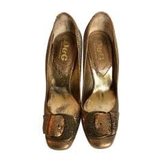 Escarpins DOLCE & GABBANA Doré, bronze, cuivre